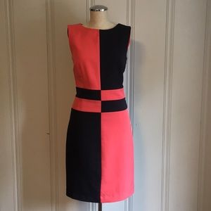 Donna Rae New York Color Block Shift Dress Size 4
